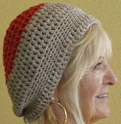 Crochet Original Red Coral Women Beige Hat by hatsbyanne1942, $32.00