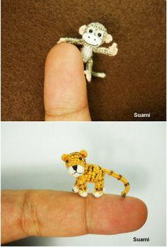 Miniature crochet animals!