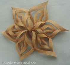 Burlap 3D Snowflakes