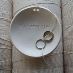 Ring Warming dish...this could be used during the ceremony then act as a place to hold your rings forever!