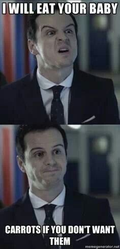 Misunderstood Moriarty just wants your vegetables