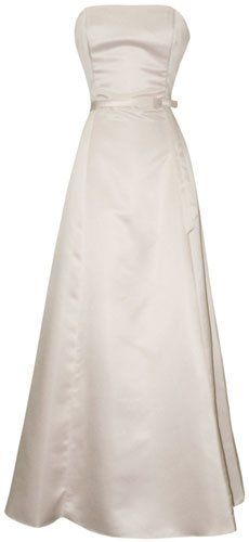 Amazon.com: 50's Strapless Satin Long Gown Bridesmaid Prom Dress Holiday Formal Junior to Plus Size: Clothing