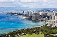 View of Waikiki from Diamond Head Crater