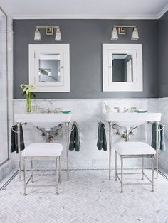 Stunning fittings to compliment the classic Carrara Marble www.bathroomstsource.co.uk