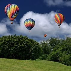Floating on hot air.  Gonna ride in one some day.  Local ones float right over our house!