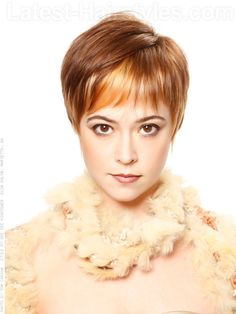 Highlighted Pixie Hairstyles