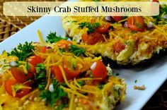 Skinny Crab Stuffed Mushrooms