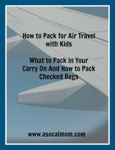 Don't Fear Air Travel With Kids, It's All About What You Pack I used to travel for work every other week. I was a master packer since I was on the road so frequently. However, the first time I took my son on a cross-country flight, we were flying alone. I was stressed. ...