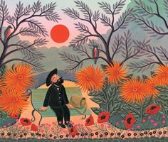 "From the book ""The Fantastic Jungles of Henri Rousseau"" by writer Michelle Markel and illustrator Amanda Hall"