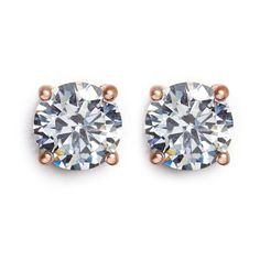 Cz by Kenneth Jay Lane Brilliant cut cubic zirconia stud earrings ($55) ❤ liked on Polyvore featuring jewelry, earrings, accessories, white, cz by kenneth jay lane jewelry, earrings jewelry, stud earrings, cz earrings and cz jewelry