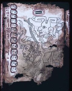 A deity depicted in the Mayan codex.
