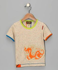 Take a look at this Oatmeal Speck Dragon Tee - Toddler & Boys by Kartoons Kataloons on #zulily today!