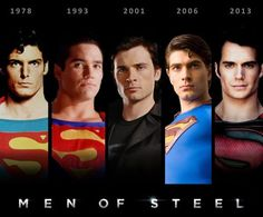 Superman through the years! Smallville is my Superman (Tom Welling)