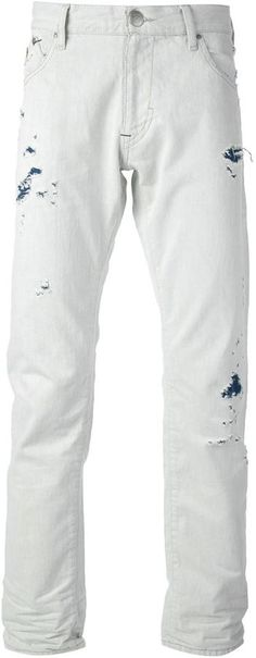 White Ripped Jeans by Armani Jeans. Buy for $161 from farfetch.com