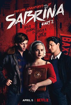 Created by Roberto Aguirre-Sacasa. With Kiernan Shipka, Ross Lynch, Lucy Davis, Chance Perdomo. As her birthday nears, Sabrina must choose between the witch world of her family and the human world of her friends. Based on the Archie comic. Tv Series To Watch, Series Movies, Movies Showing, Movies And Tv Shows, Sabrina Spellman, Poster Series, First Tv, Archie Comics, Netflix Movies