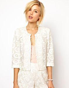 ASOS Blazer in Crochet Lace - $91.44 & matching shorts!