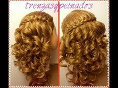 Trenza Cordon Frances con Crespos Faciles - French Braid with Easy Curls - YouTube
