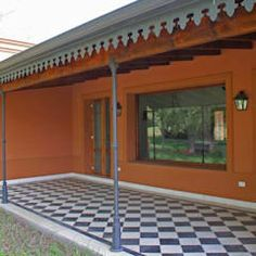 Roof Trim, Colonial, Patio Roof, Future House, Pergola, Sweet Home, Villa, Ideas Para, Backyard
