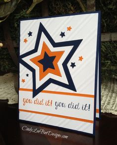 I started my morning playing with the ColourMe Challenge # 46 and the SU Star Framelits. The star framelits are soooo cool! I used them on Christmas cards to cut out the SU Bright and Beautiful sta...