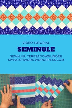 """""""Created by the Native Americans of southern Florida, Seminole strip piecing is based on a simple form of decorative patchwork. Seminole strip piecing has uses in quilts, wall hangings, and traditiona"""