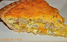 ~Sausage and Cheese Quiche~ A simple dish perfect for a brunch, or weeknight supper. Store bough crust helps it to be easy as can be, and still delicious!