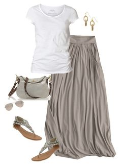 neutrals maxi by shopwithm on Polyvore featuring AllSaints, Garnet Hill, Old Navy, J.Crew, Coldwater Creek and Ray-Ban