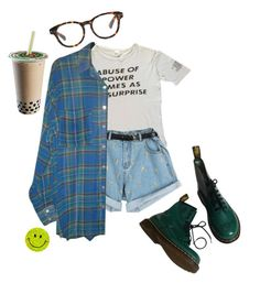 """Untitled #13"" by meh-okay ❤ liked on Polyvore featuring American Apparel, Madewell and Dr. Martens"
