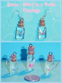 mini bottle charms | Zelda Fairy in a Bottle Charms by *YellerCrakka on deviantART