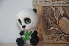 OOAK needle felted Panda Bear | Hummingbird Atelier | madeit.com.au