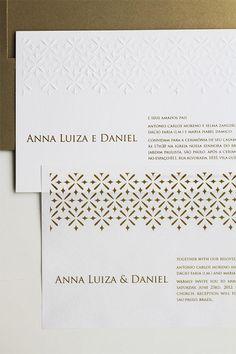 Convite de casamento bilíngue - Constance Zahn | Casamentos