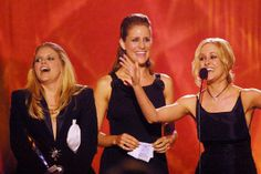 The Dixie Chicks onstage at the 2002 CMT Flameworthy Video Music Awards