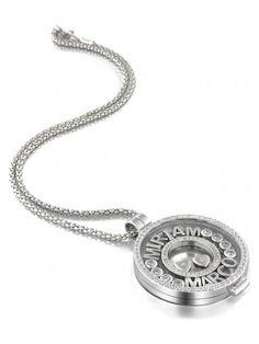 MY iMenso | hanger (medaillon) collier +dancing letters | €270,95   zelf samen te stellen| zilver | #myimenso #sieraad  #medaillon