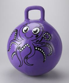 Take a look at this Purple Octopus Payaso Jumping Ball by Mega Marbles on #zulily today!