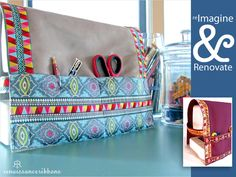 Re-imagine & Renovate: Renaissance Ribbons' Pinafore Style Sewing Machine Cover   Sew4Home