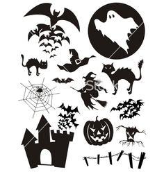 Halloween set vector on VectorStock