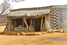 Beautiful Hand-Drawn Home Facades in Tiebele, a small village south of Burkina Faso. The homes, made of Cob (clay, dung, sand and water), are structurally necessary-- and decorated by groups of women within the community.