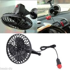 Mini 4 Inch 360 Degree Motorcycle Sucker Fan Socket Portable Car Van