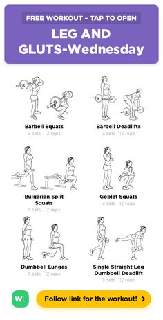 LEG AND GLUTS-Wednesday · Free workout by WorkoutLabs Fit