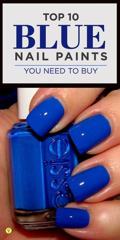 Blue nail polish, a while back it would have been a strict no no but the trend is now in! Here is a list of the best blue nail polish shades you can ...