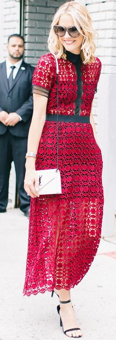 L. Avenue Self Portrait Dress Fall Inspo