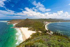 The beautiful coastline of Port Stephens.