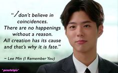 I Remember You / Hello Monster quotes: Park Bo-gum as Jung Sun-ho / Lee Min (ep7)