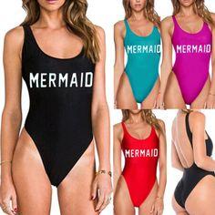 USA-Women-039-s-One-Piece-Swimsuit-Swimwear-Bathing-Monokini-Push-Up-Padded-Bikini