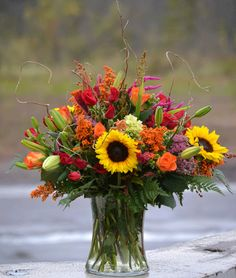 Vibrant fall vase by Trig's Floral and Home. Photo by Sandy Buss