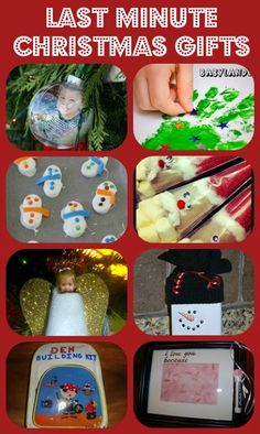 Quick and Easy Christmas Gifts, Christmas Tree Hand Print, Santa Cocoa, Homemade Ornaments and more...