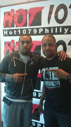 Desean Jackson hanging out at Hot 107 in Philly