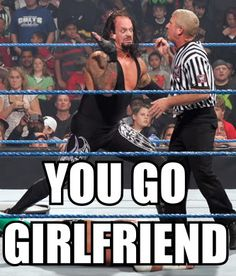 Thanks to the ever-creative, ever-bored segment of the wrestling population, some fantastically funny WWE memes await our eager eyes. Funny Wrestling, Wwe Funny, Funny Sports Memes, Sports Humor, Hilarious, Watch Wrestling, Undertaker Wwe, John Cena, Wwe Pictures