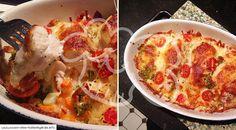 Mozzarella-Gemüsegratin mit Hähnchenfilet