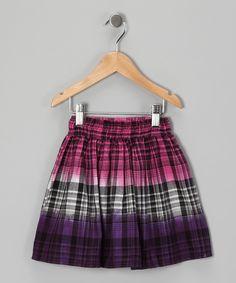 #zulily #fall Pink & Purple Ombré Skirt