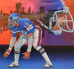 Vintage NY Giants Damac poster artwork